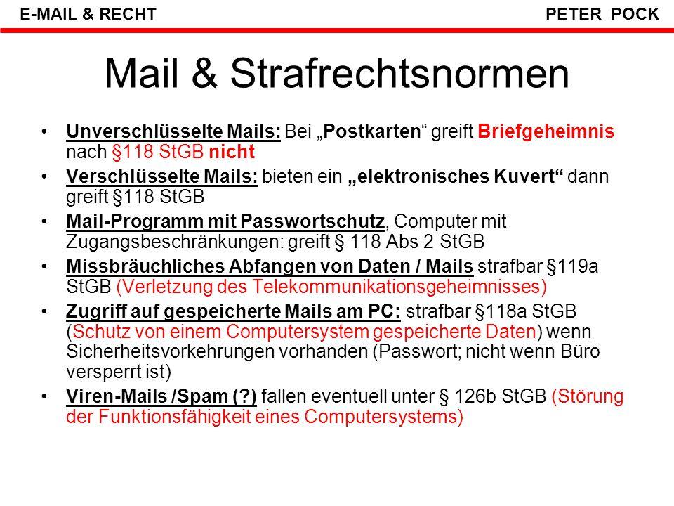 Mail / Strafrecht WAS WIRD ÜBERWACHT .
