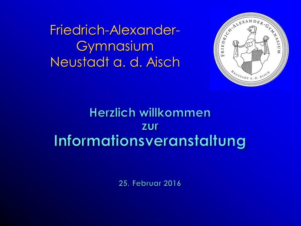 Friedrich-Alexander- Gymnasium Neustadt a. d. Aisch