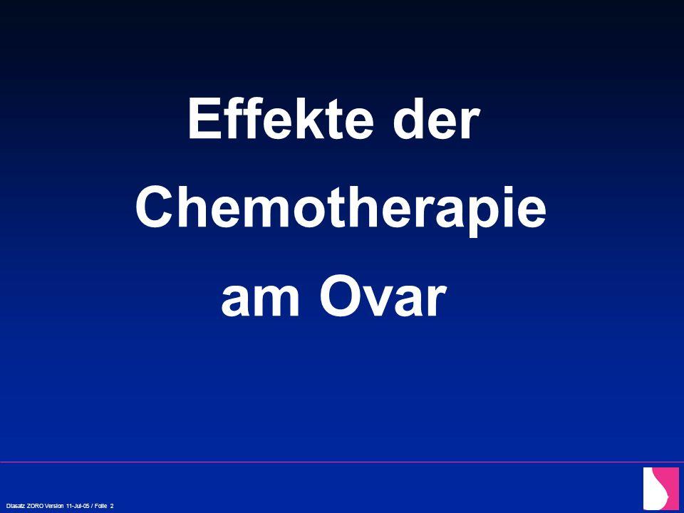 Diasatz ZORO Version 11-Jul-05 / Folie 3 Chemo therapie (nach Block 1952, Gougeon 1994)