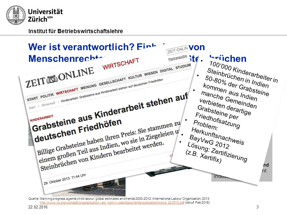 Institut für Betriebswirtschaftslehre 3 Wer ist verantwortlich.