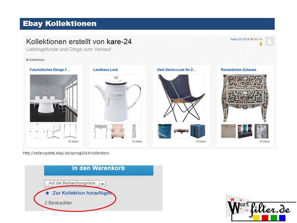 Ebay Kollektionen http://www.ebay.de/gds http://sellerupdate.ebay.de/spring2014/collections
