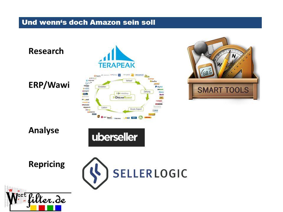 Und wenn's doch Amazon sein soll Research ERP/Wawi Analyse Repricing