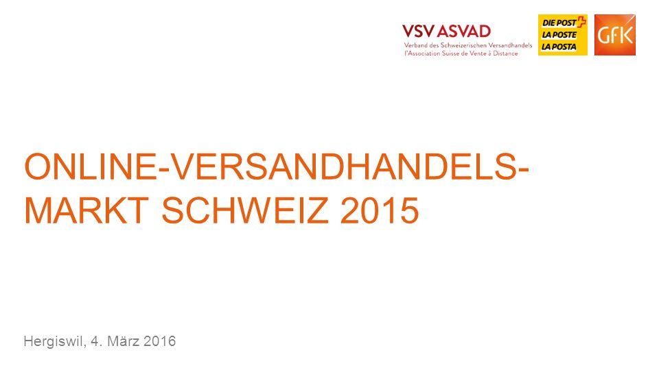 2© GfK 2016 | Online- und Versandhandelsmarkt Schweiz 2015 | 4.