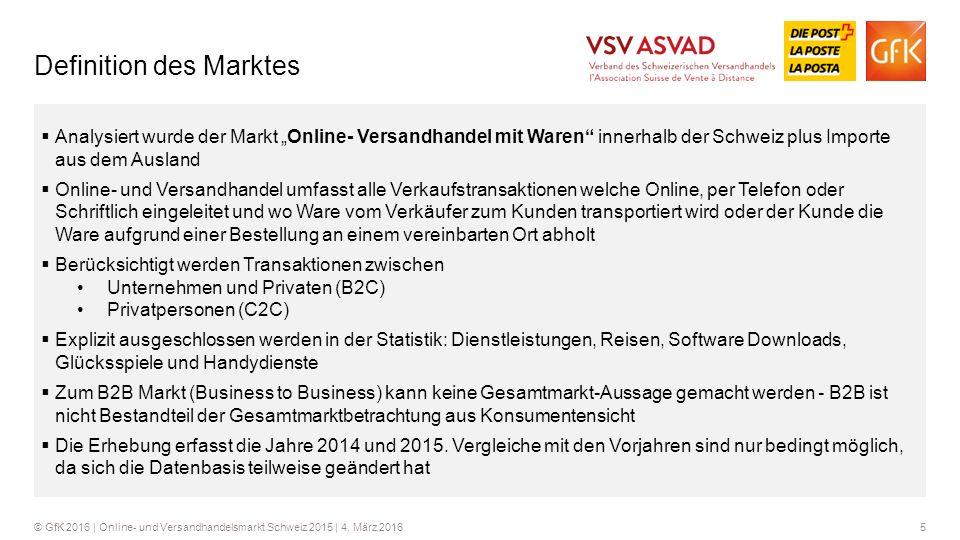 16© GfK 2016 | Online- und Versandhandelsmarkt Schweiz 2015 | 4.