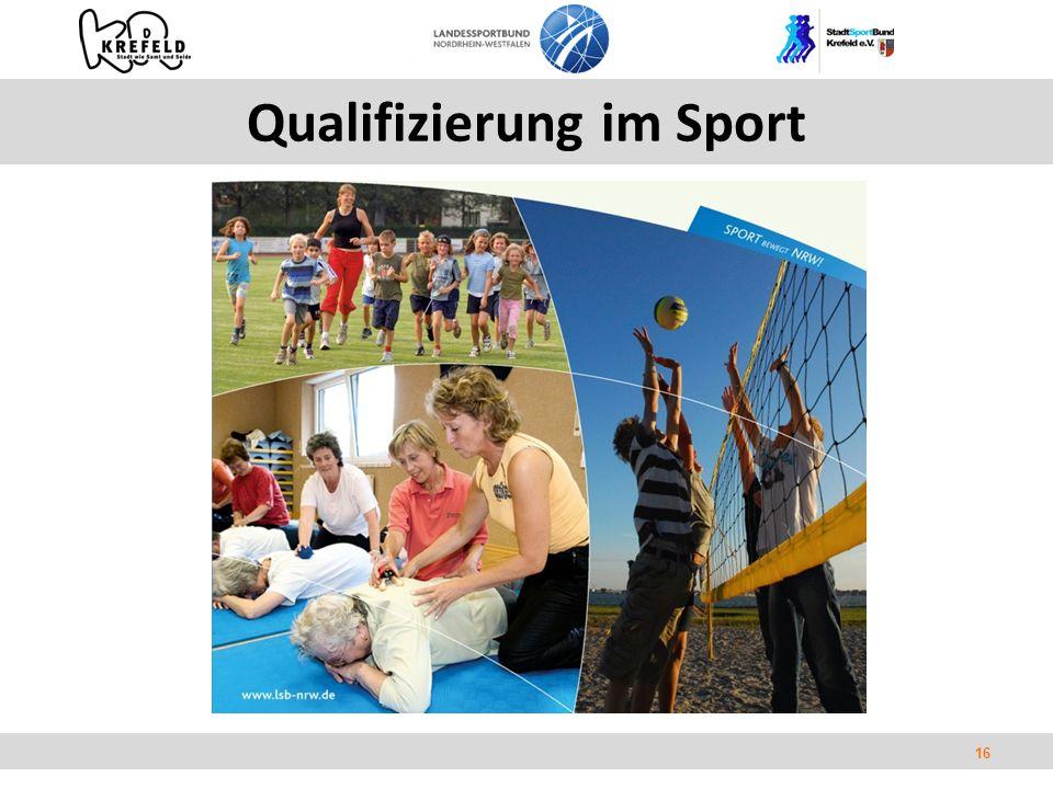 16 Qualifizierung im Sport