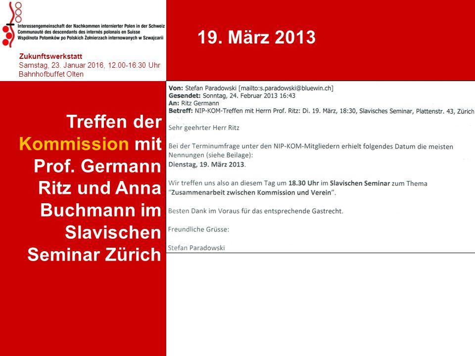 Treffen der Kommission mit Prof. Germann Ritz und Anna Buchmann im Slavischen Seminar Zürich hhjhjhjhjhj Zukunftswerkstatt Samstag, 23. Januar 2016, 1