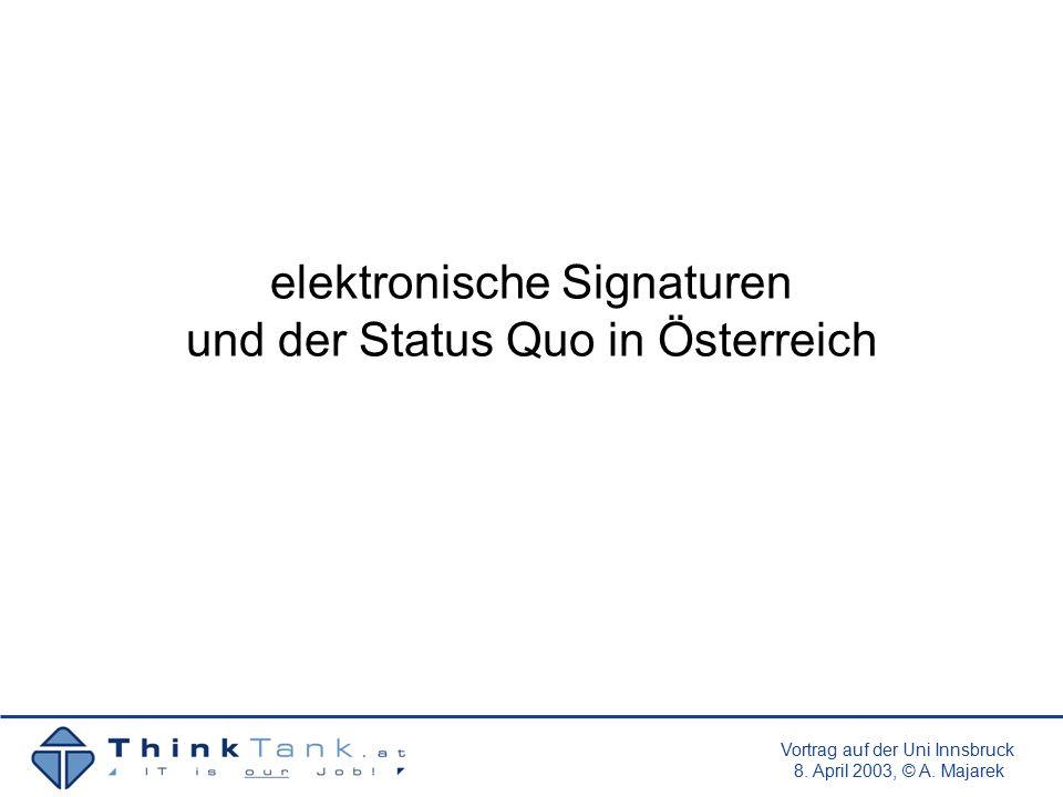 Vortrag auf der Uni Innsbruck 8.April 2003, © A.