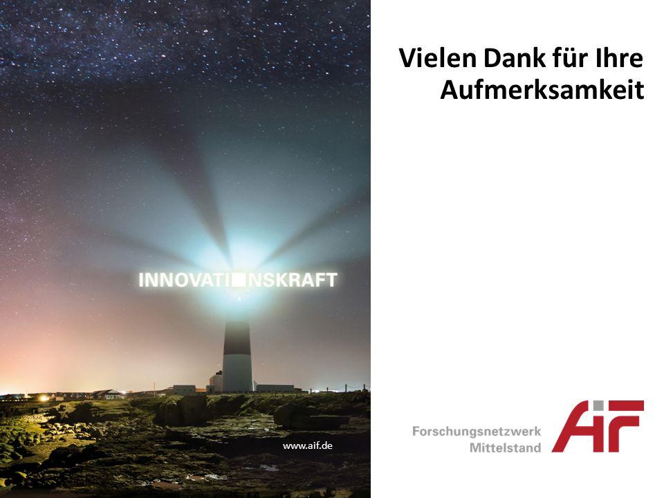 www.aif.de Vielen Dank für Ihre Aufmerksamkeit