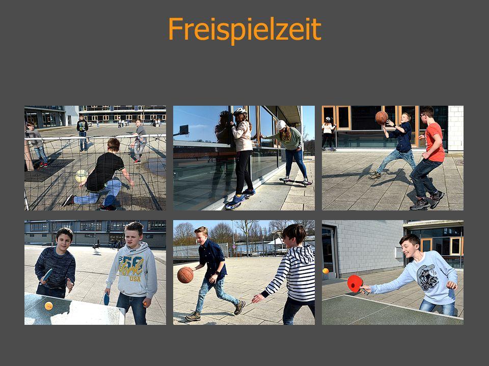 20–30 min.austoben … Tischtennis spielen … quatschen … Waveboard fahren...