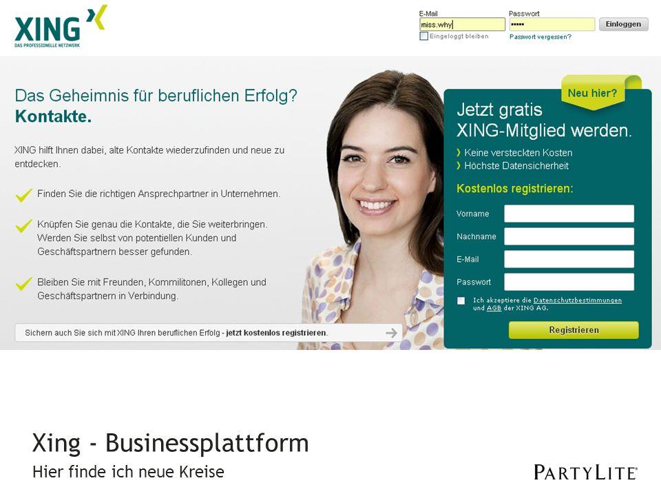 Hier finde ich neue Kreise Xing - Businessplattform