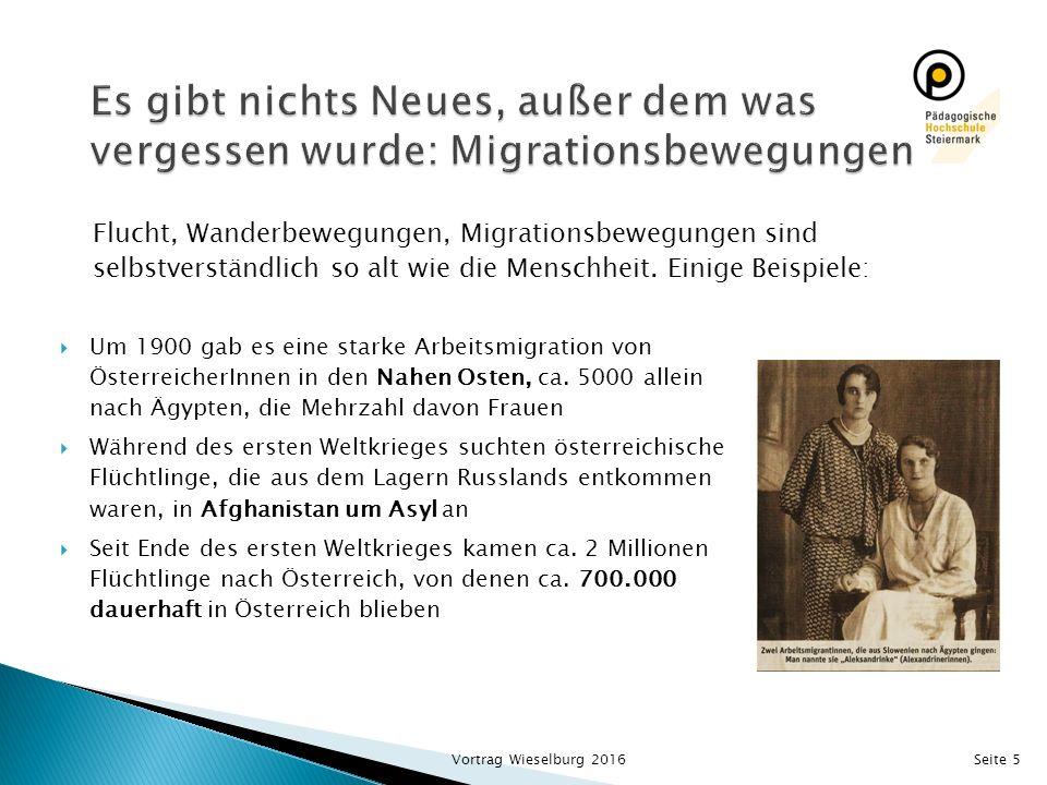  Um 1900 gab es eine starke Arbeitsmigration von ÖsterreicherInnen in den Nahen Osten, ca. 5000 allein nach Ägypten, die Mehrzahl davon Frauen  Währ