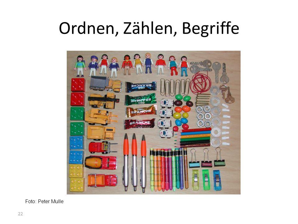 Ordnen, Zählen, Begriffe Foto: Peter Mulle 22