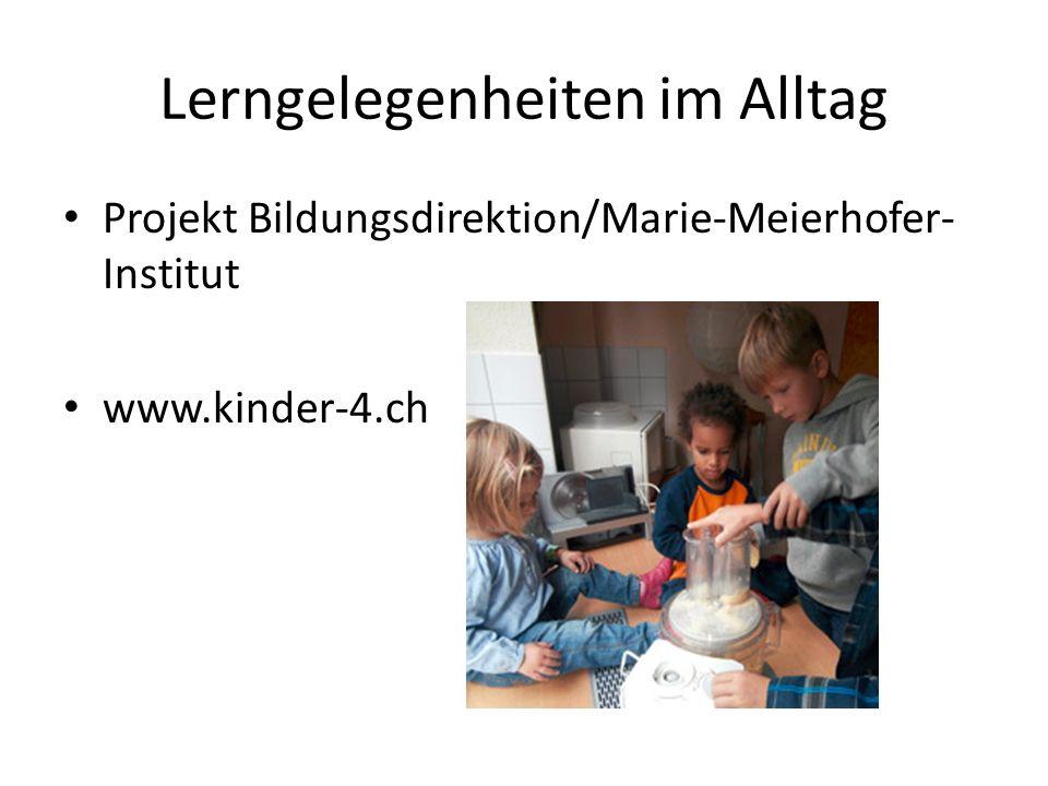 Lerngelegenheiten im Alltag Projekt Bildungsdirektion/Marie-Meierhofer- Institut www.kinder-4.ch