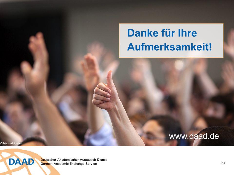 23 Danke für Ihre Aufmerksamkeit! www.daad.de © Michael Jordan