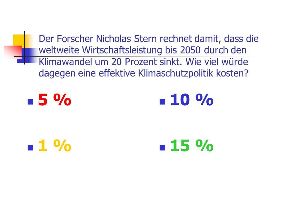 Der Forscher Nicholas Stern rechnet damit, dass die weltweite Wirtschaftsleistung bis 2050 durch den Klimawandel um 20 Prozent sinkt.