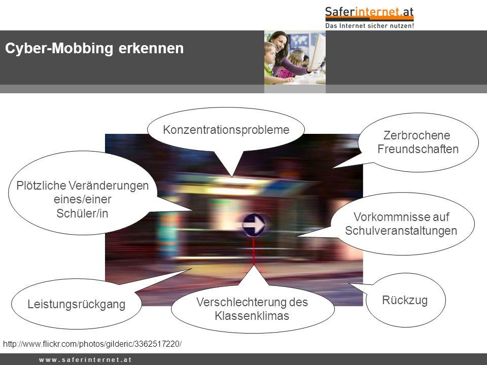 Rückzug Konzentrationsprobleme Verschlechterung des Klassenklimas Zerbrochene Freundschaften Vorkommnisse auf Schulveranstaltungen http://www.flickr.c