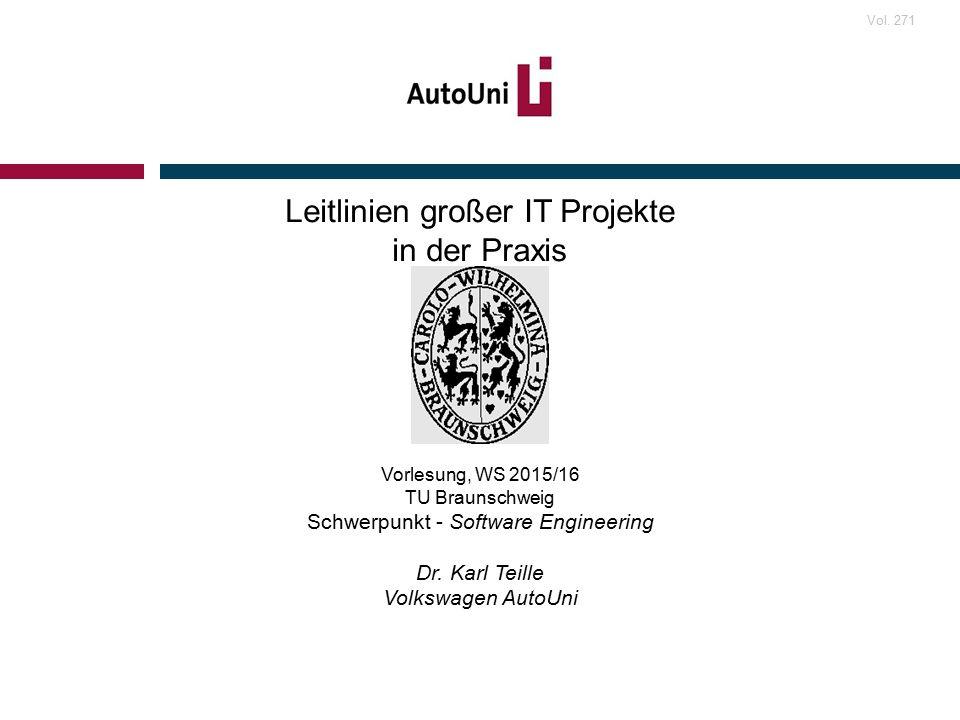 Vorlesung, WS 2015/16 TU Braunschweig Schwerpunkt - Software Engineering Dr.