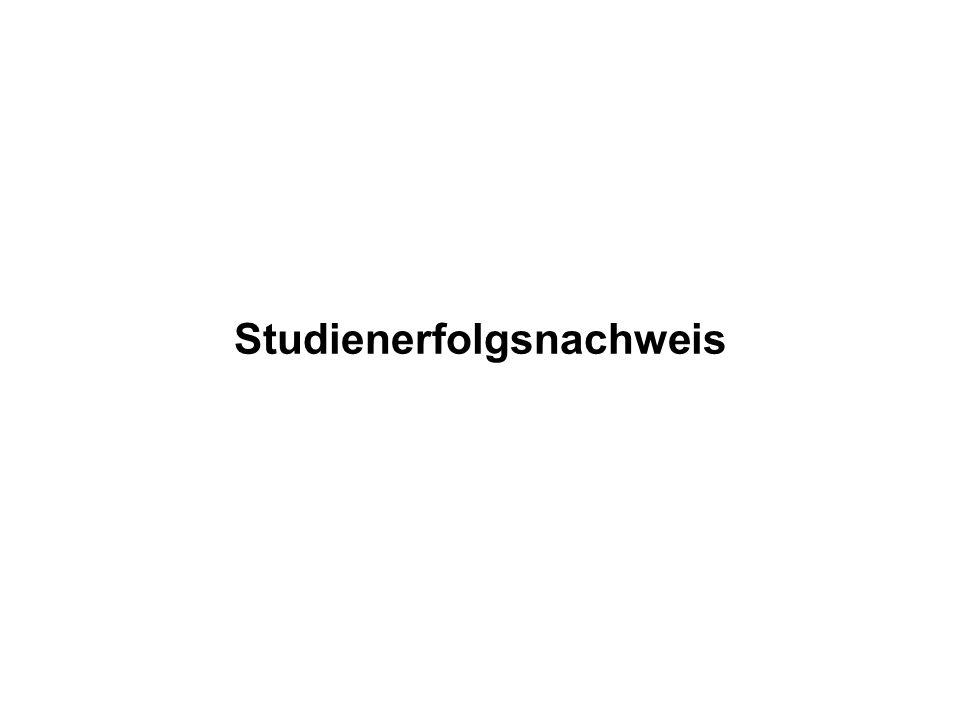 Studienerfolgsnachweis