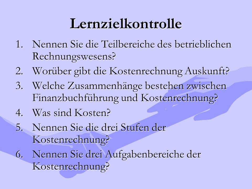 Personalkosten LEISTUNGSLÖHNE NICHT- LEISTUNGSLÖHNE  Fertigungslohn  Hilfslohn  Lohn f.