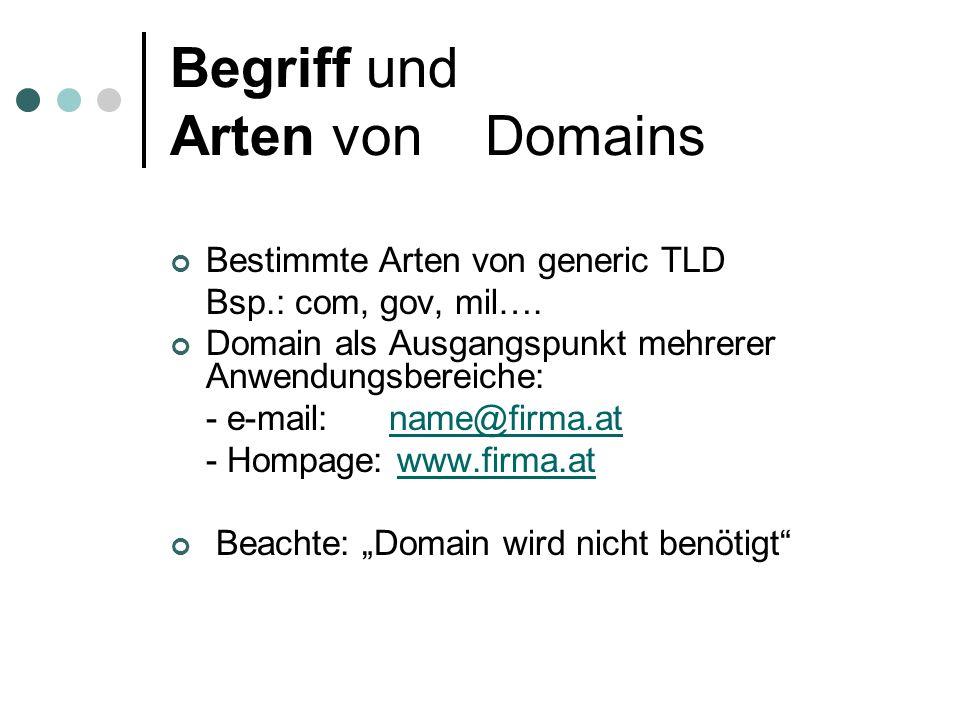 Die internationale Domainverwaltung Die Koordination der Vergabe Pläne zur Einführung der.eu-Domain