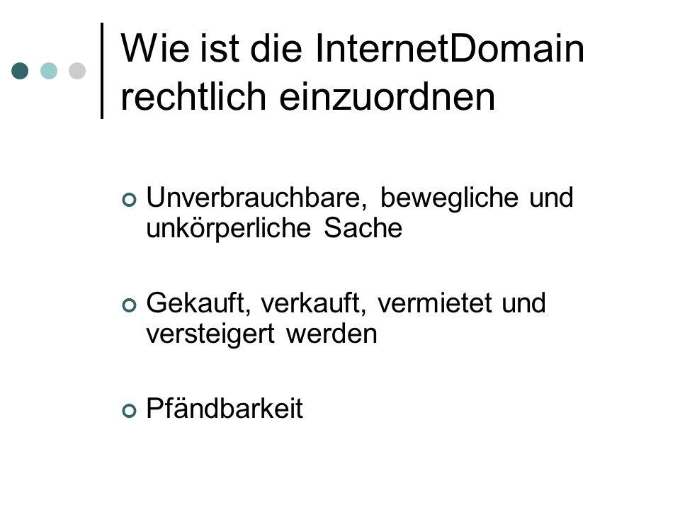 Domainstreitigkeiten Registrierung: 1997: 10.000 2002 : 270.000 Bereits 25 OGH Entscheidungen Der gerichtliche Domainstreit