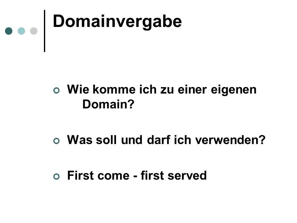 Markenschutz gegen identische InternetDomains §10 abs 1 Z 1 MSchG = Doppelidentität Entscheidend ist also der Domain Name und nicht der InternetDomain für die Identitätsprüfung, TLD bleibt außer Betracht
