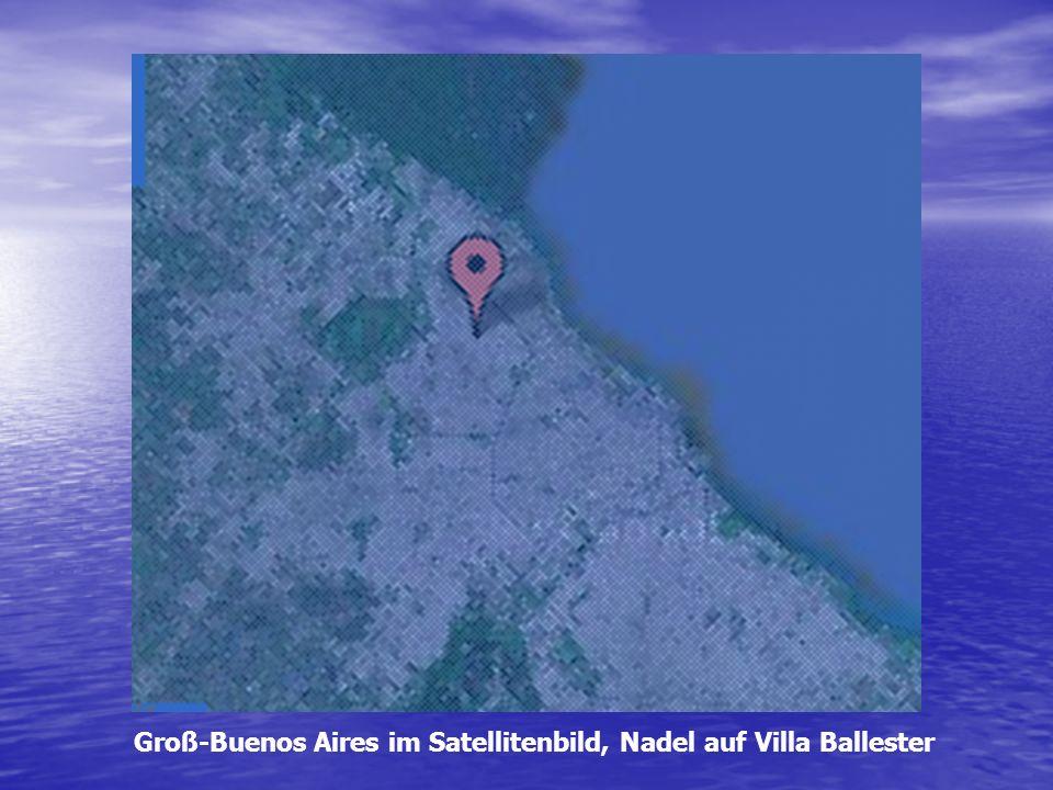 Groß-Buenos Aires im Satellitenbild, Nadel auf Villa Ballester