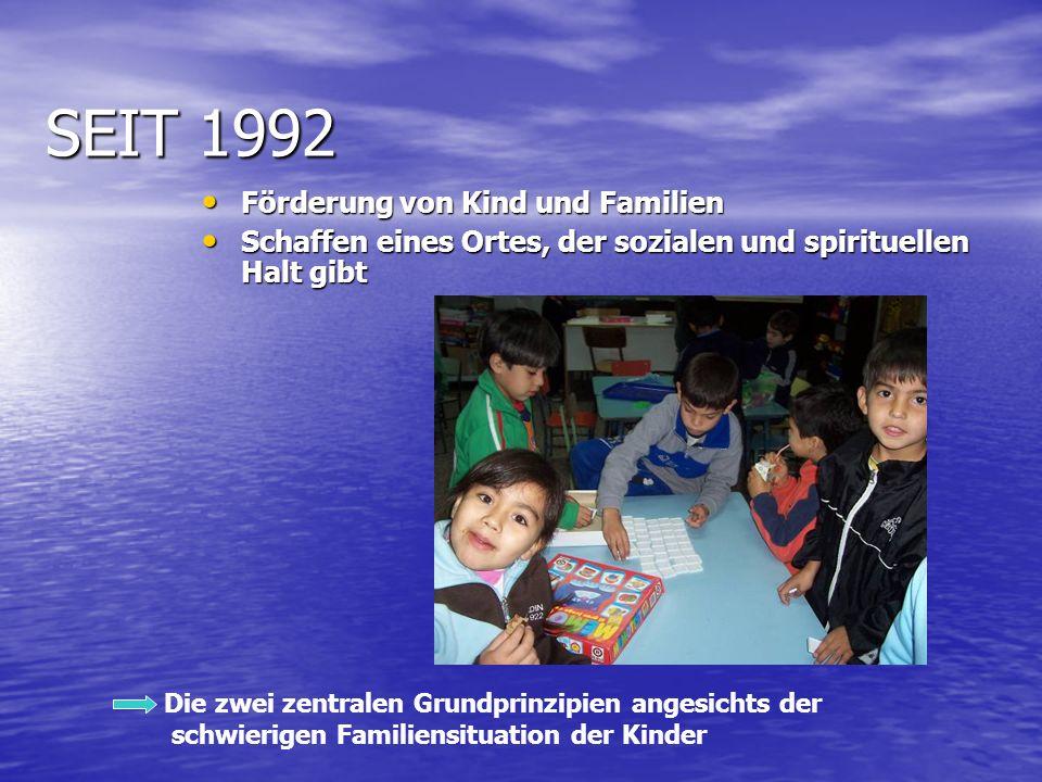 SEIT 1992 Förderung von Kind und Familien Förderung von Kind und Familien Schaffen eines Ortes, der sozialen und spirituellen Halt gibt Schaffen eines Ortes, der sozialen und spirituellen Halt gibt Die zwei zentralen Grundprinzipien angesichts der schwierigen Familiensituation der Kinder