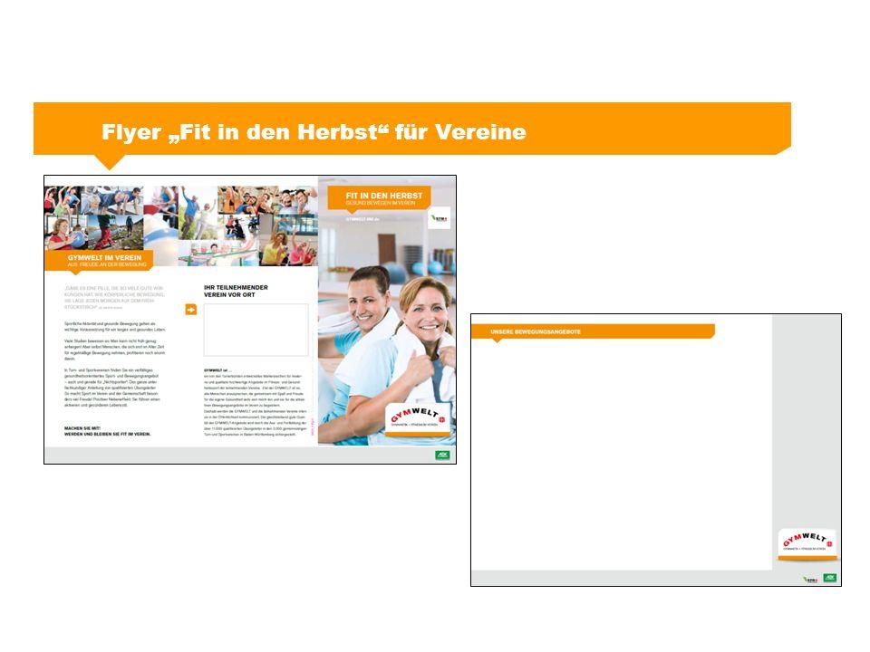 """Flyer """"Fit in den Herbst"""" für Vereine"""