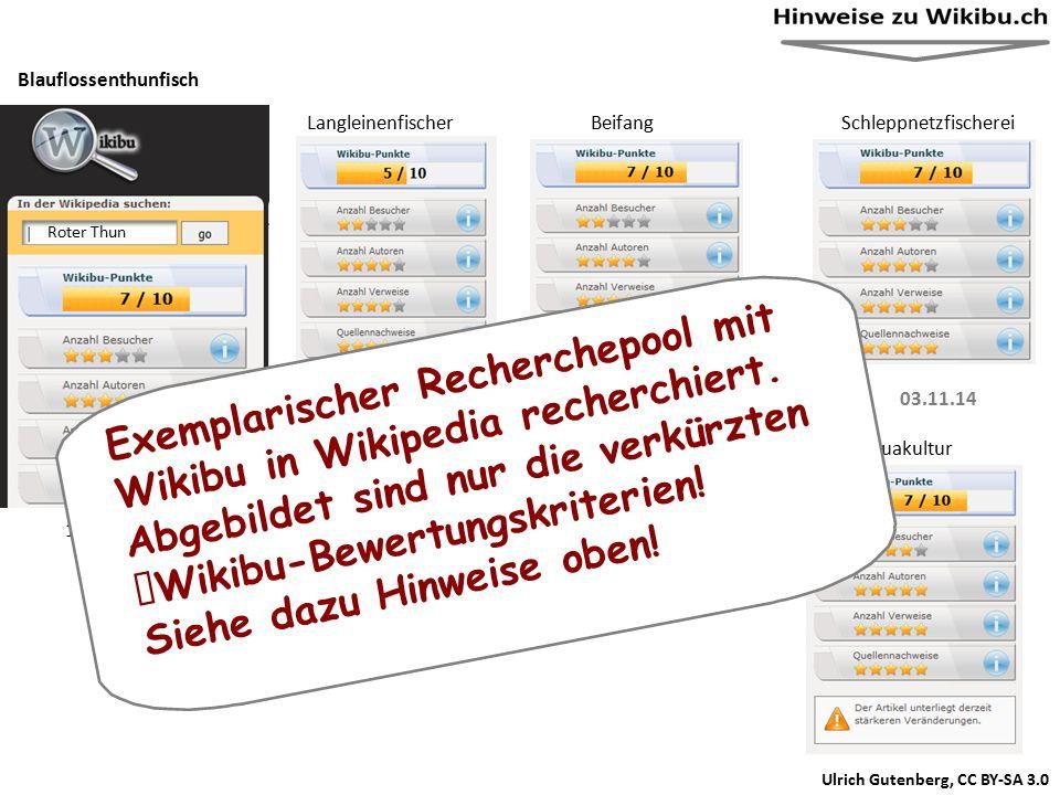 Ulrich Gutenberg, CC BY-SA 3.0 (Quelle des Screenshots Wikibu.ch) Langleinenfischer ei SchleppnetzfischereiBeifang Aquakultur Garnelenkutter Dieser Artikel oder Abschnitt bedarf einer Überarbeitung: Belege sind teilweise 10 Jahre alt, die meisten Weblinks sind tot, Artikel tendenziös.
