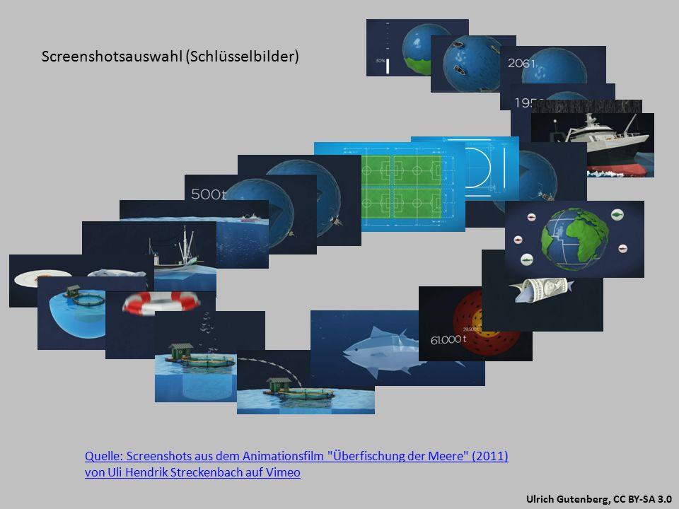 Ulrich Gutenberg, CC BY-SA 3.0 http://www.sueddeutsche.de/wissen/ueberfischung-der-meere-animiert-zum-umweltschutz-1.1168301 Linktipps für Hintergrundinformationen www.uhsless.de/ http://www.duh.de/ocean2012.html https://www.youtube.com/user/OCEAN2012EU http://www.duh.de/ump_preistraeger.html http://www.viralvideoaward.com/die-uberfischung-der-meere/