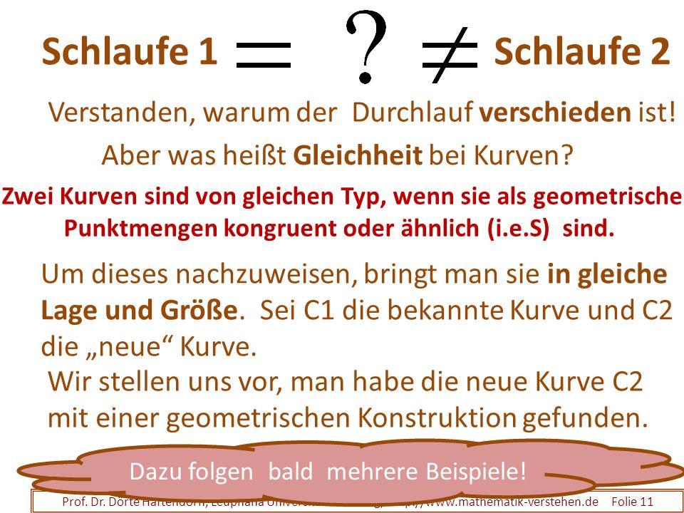 Schlaufe 1 Schlaufe 2 Prof. Dr. Dörte Haftendorn, Leuphana Universität Lüneburg, http://www.mathematik-verstehen.de Folie 11 Verstanden, warum der Dur