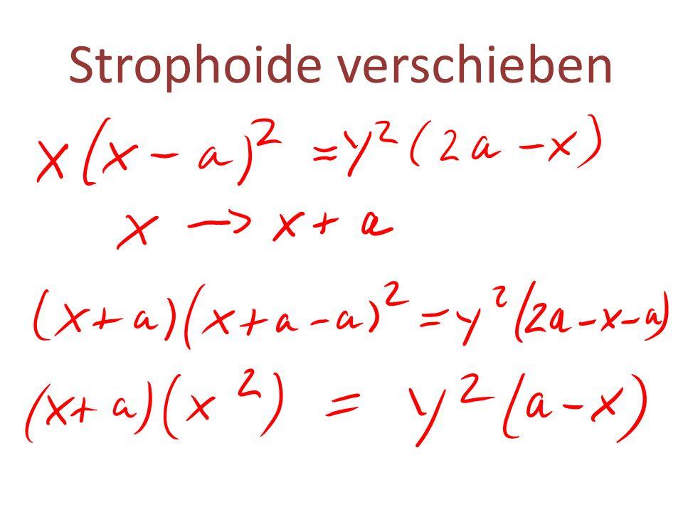 Strophoide verschieben