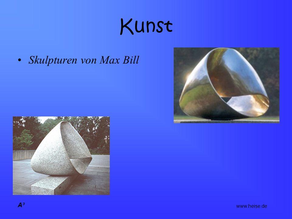 A³ Kunst Skulpturen von Max Bill www.heise.de