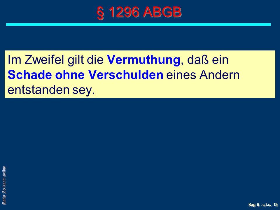 Barta: Zivilrecht online Kap 6 - c.i.c.