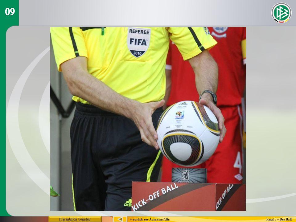= zurück zur AusgangsfolieRegel 2 – Der Ball Präsentation beenden