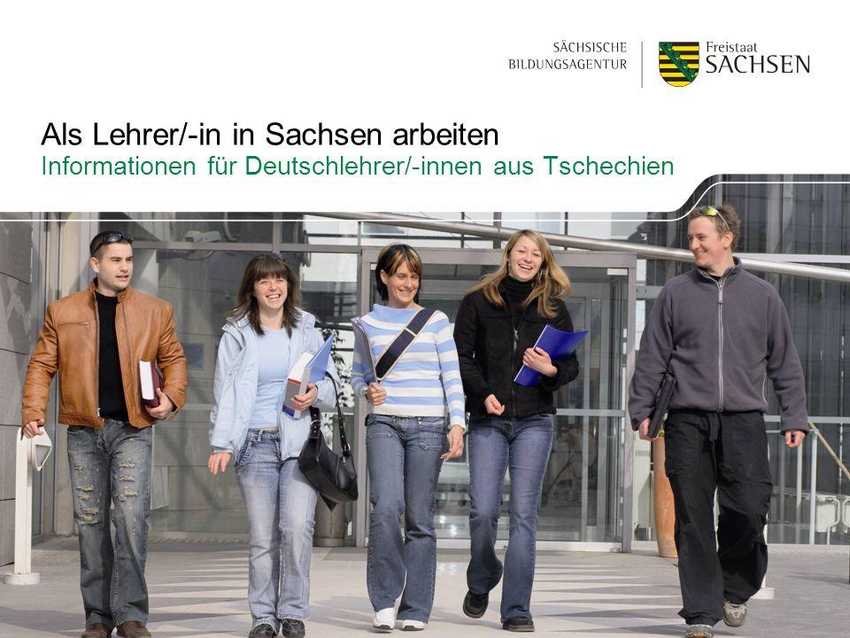 Als Lehrer/-in in Sachsen arbeiten Informationen für Deutschlehrer/-innen aus Tschechien
