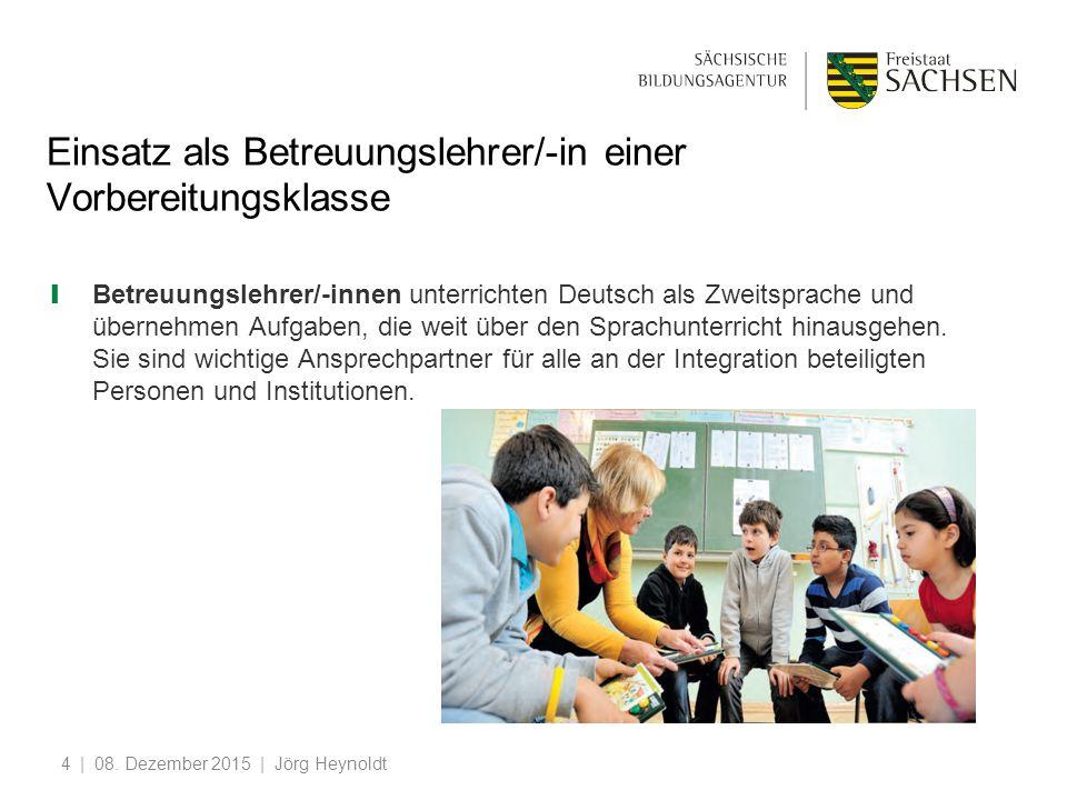 Einsatz als Betreuungslehrer/-in einer Vorbereitungsklasse ❙ Betreuungslehrer/-innen unterrichten Deutsch als Zweitsprache und übernehmen Aufgaben, die weit über den Sprachunterricht hinausgehen.