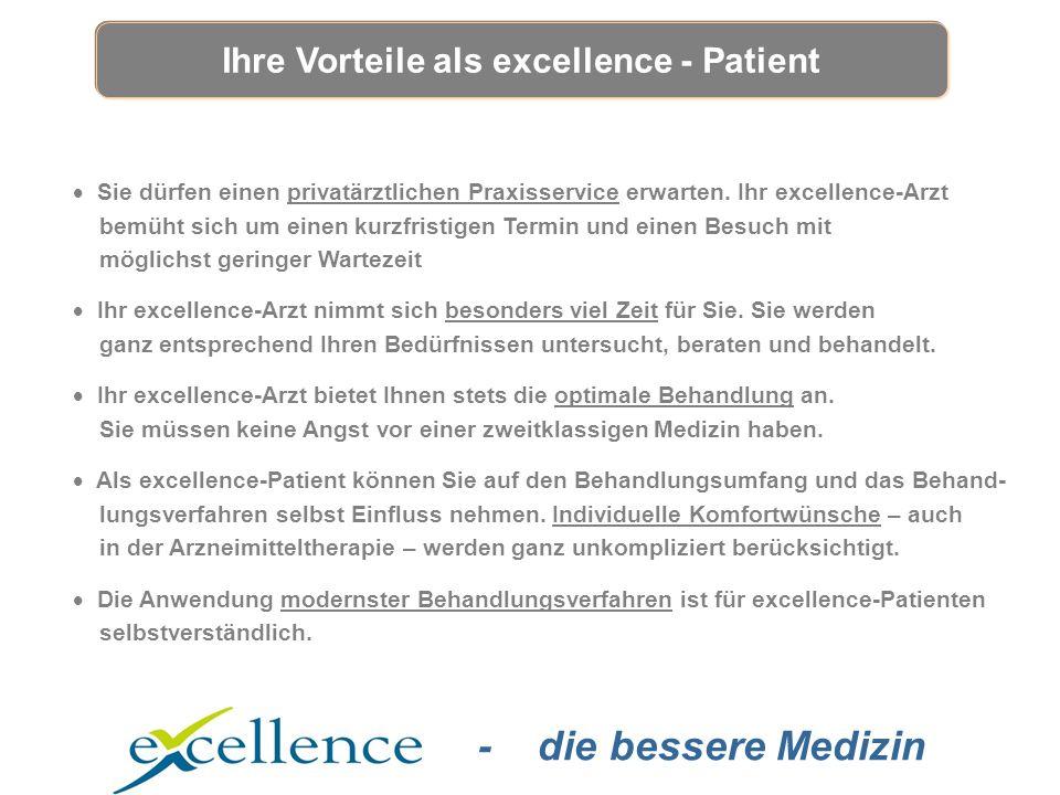 - die bessere Medizin  Sie dürfen einen privatärztlichen Praxisservice erwarten.