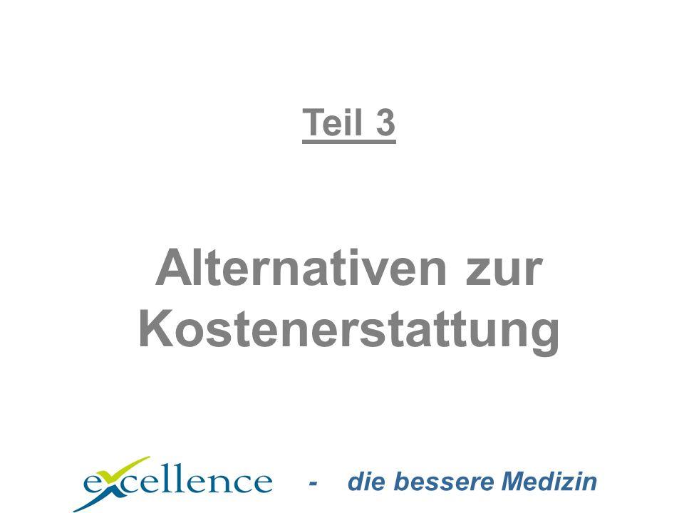 - die bessere Medizin Teil 3 Alternativen zur Kostenerstattung
