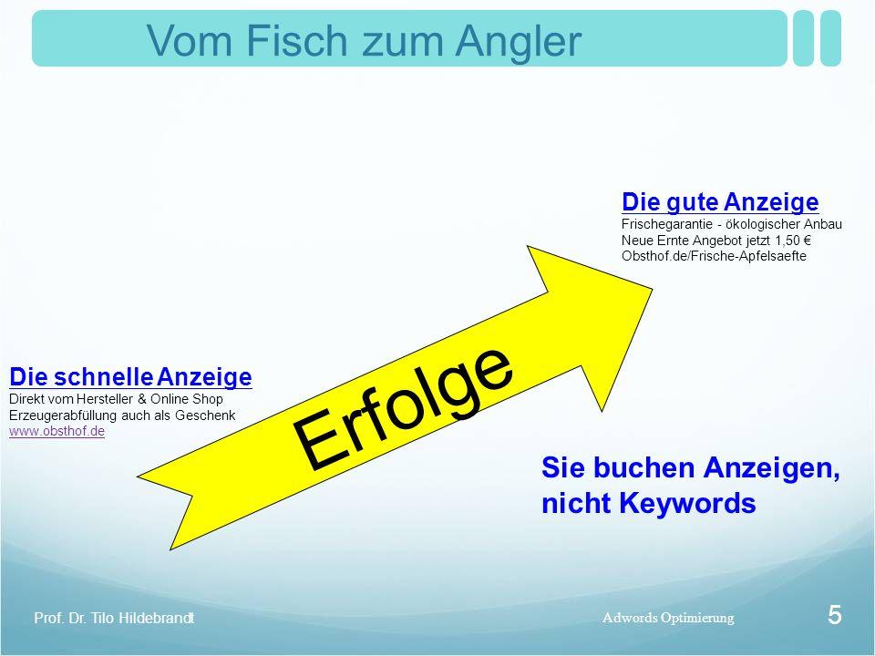 Vom Fisch zum Angler Adwords Optimierung Prof. Dr.