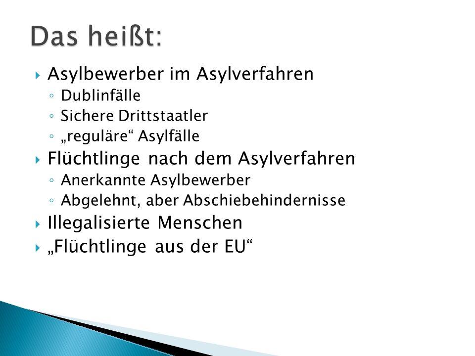 - Politik konfrontieren mit langfristigen Folgen der Ungleichheiten in medizinischer und finanzieller Hinsicht durch das AsylbLG - Kooperation mit Trägern der Integrationskurse - Kooperationen mit Gynäkologen, Gesundheitsämtern - Möglichkeiten für aufsuchende Arbeit in Kooperation mit städtischen Sozialarbeitern - Runde Tische und Integrationsrat einbeziehen