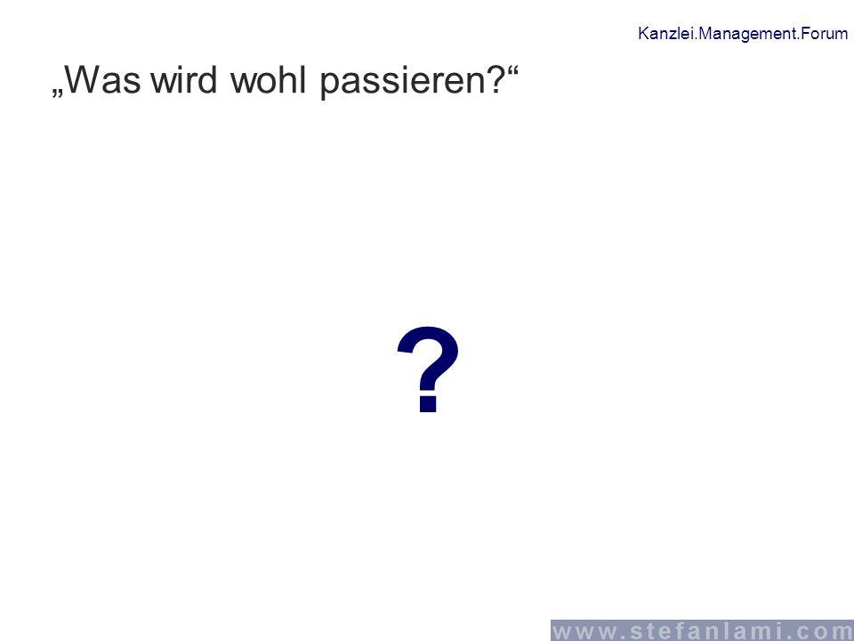 """Kanzlei.Management.Forum """"Was wird wohl passieren?"""" ?"""