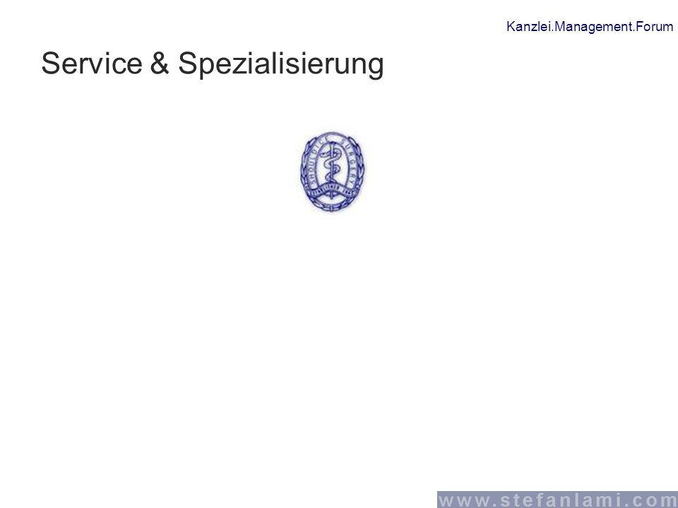Kanzlei.Management.Forum Service & Spezialisierung