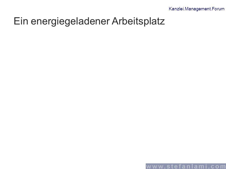 Kanzlei.Management.Forum Ein energiegeladener Arbeitsplatz