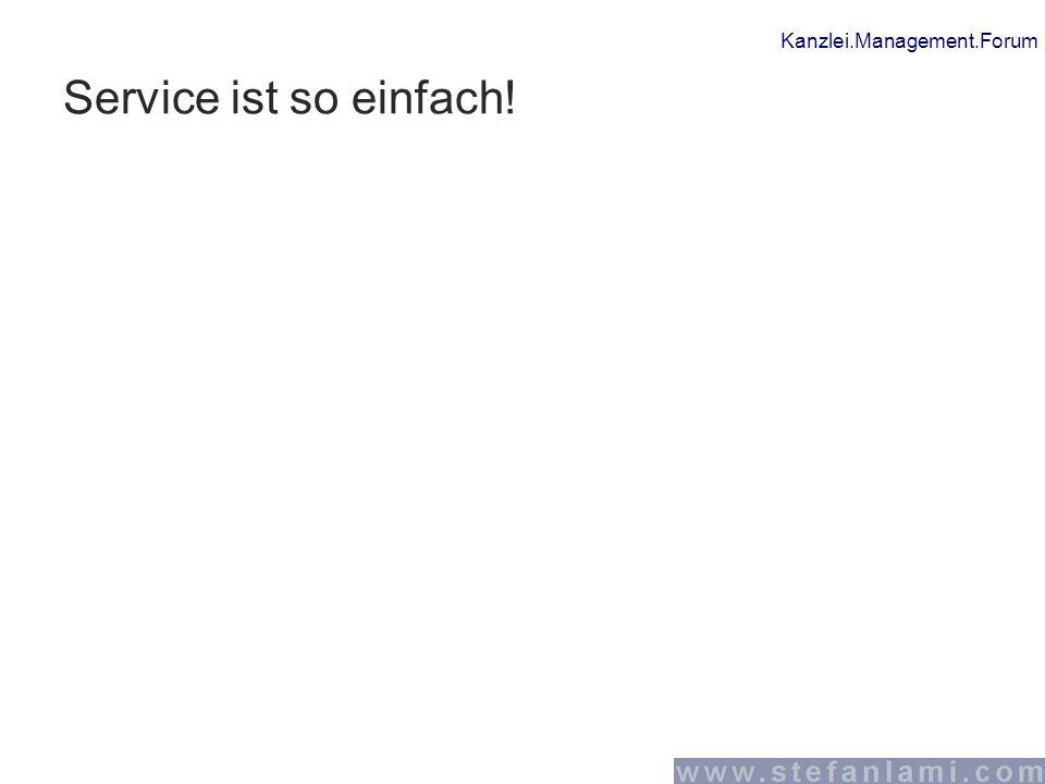 Service ist so einfach!