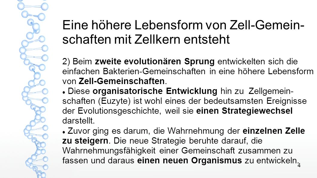 5 Nicht Kampf sondern Vernetzung Die wesentliche Schubkraft der Evolution ist die Symbiose, als Zusammenschluss von Individuen zur Bildung allerseits vorteilhafter Beziehungen.
