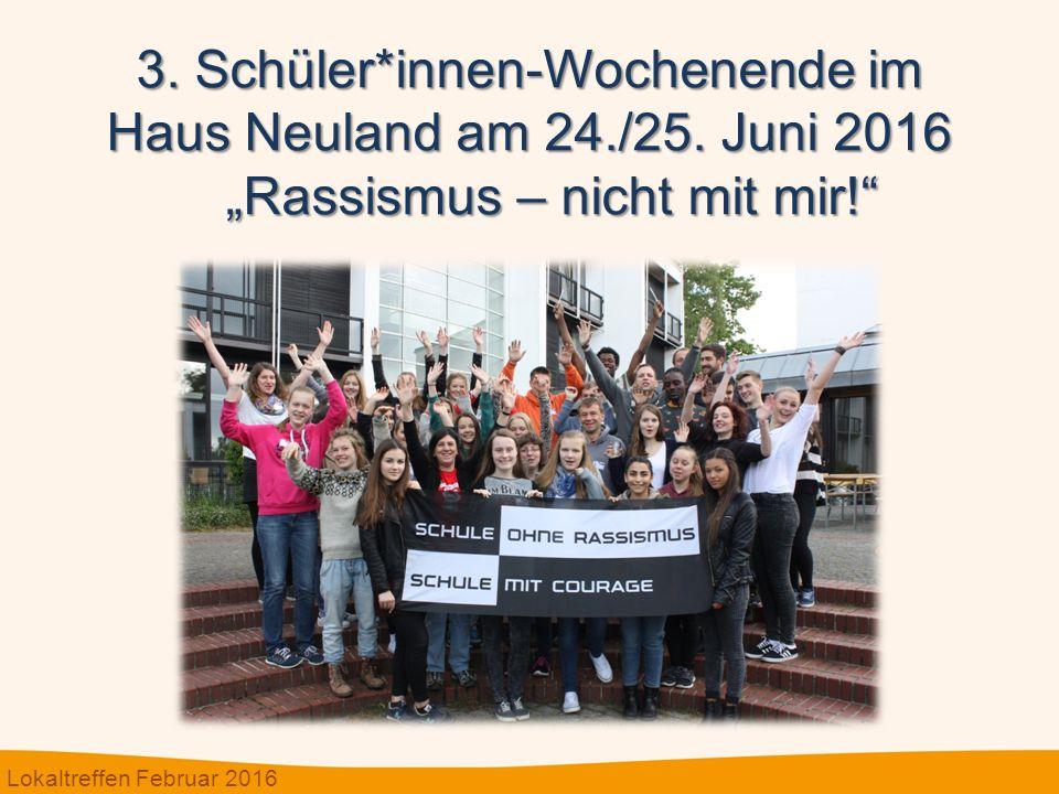 3. Schüler*innen-Wochenende im Haus Neuland am 24./25.