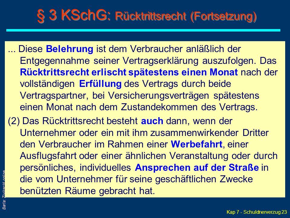 Kap 7 - Schuldnerverzug 23 Barta: Zivilrecht online...