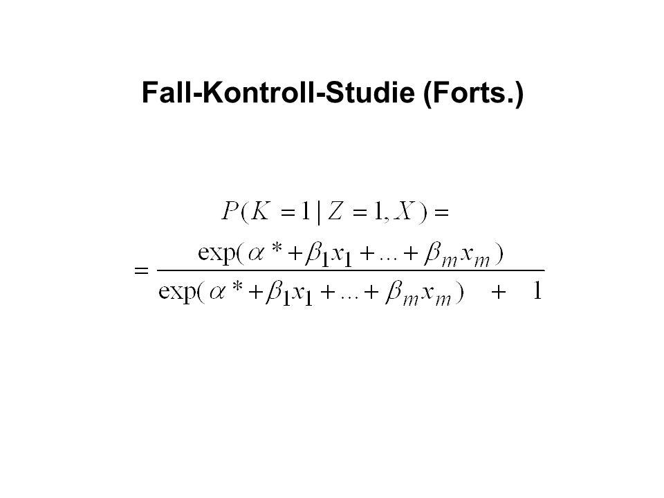 Fall-Kontroll-Studie (Forts.)
